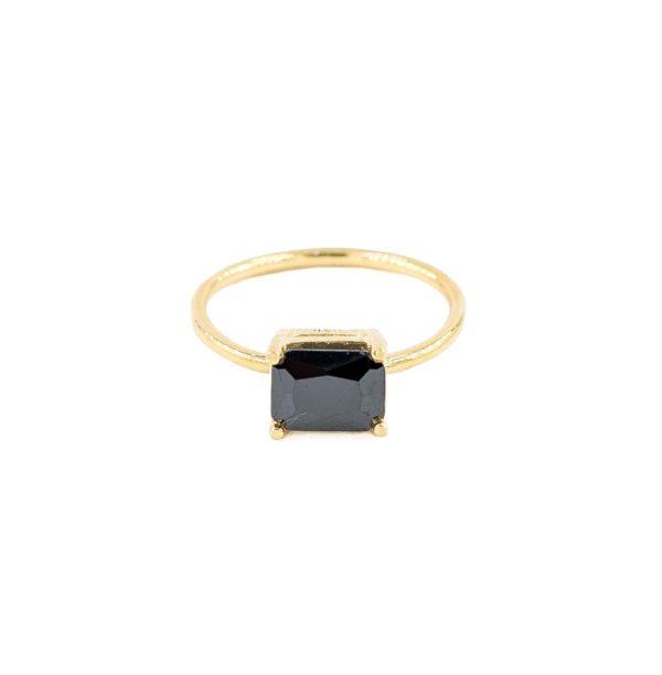 anillo rectangulo negro