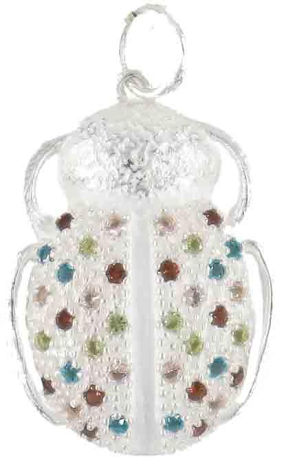 Escarabajo circonitas. Largo: 2,6 cm